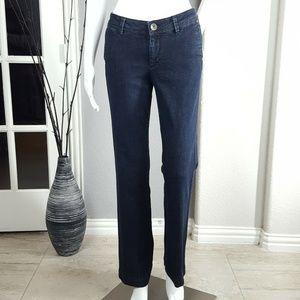 Banana Republic Stretch Trouser Dark Wash Jeans